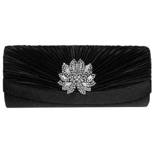 Handbags - Evening Clutch, Womens 3D Floral Rhinestone